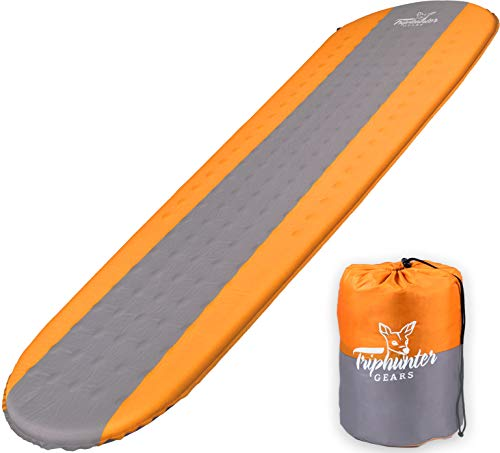 Self Inflating Sleeping Pad Lightweight - Compact Foam Padding Waterproof Inflatable Mat - Best for...