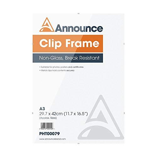 Fotolijst Clip Frame Photo Album Company 30x42 cm CF 3042NG -1.54, hoge helderheid van het glas, veiligheidsglas, metaal