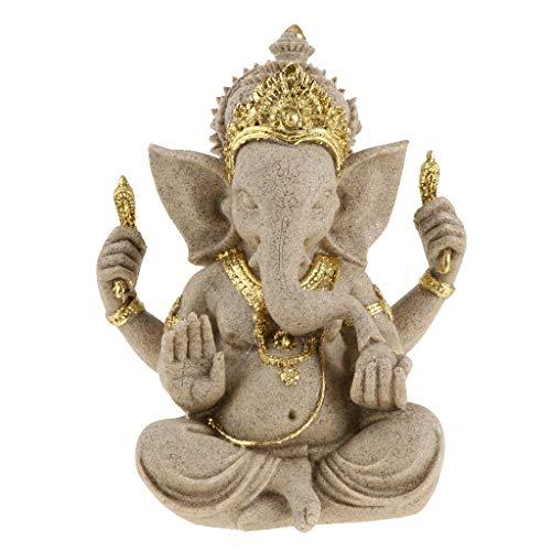 perfeclan Estatua de Elefante Buda Ganesh Amuleto de Hindú Decoración Artesanal Oficina