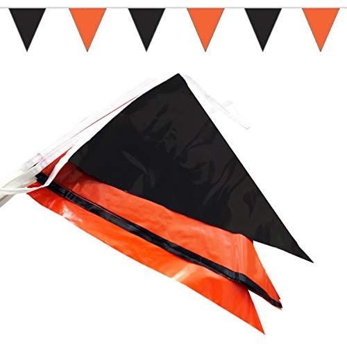 Goodymax® Wimpelkette 10 m Orange-Schwarz - viele weitere Farben und Farbkombinationen zur Auswahl