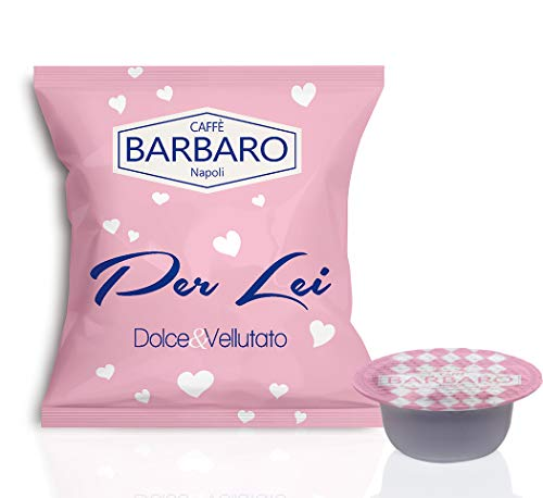 CAFFE' BARBARO Napoli Compatibile Bialetti, Miscela per Lei 100 Capsule ---- ATTENZIONE NON COMPATIBILE CON LA NUOVE MACCHINE BIALETTI CON SENSORE DI RICONOSCIMENTO CAPSULE IN ALLUMINIO