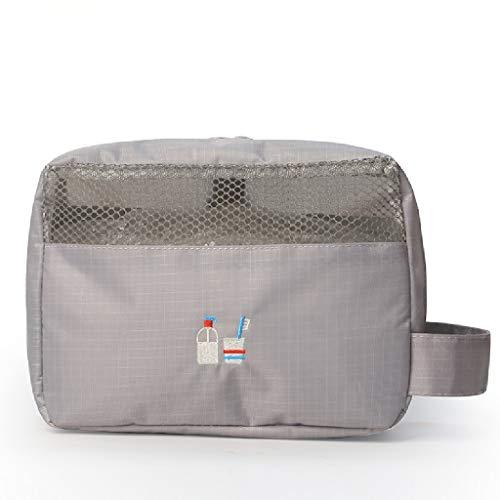 Filet de Maquillage Transparent Rouge avec Le Sac de Rangement Ins Girl Wash Products Petit Sac de Transport étanche FANJIANI (Color : Gray)