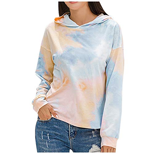 HOTHONG Sweat-Shirt Hoodie Tie-Dye Pull Shirt Sweat à Capuch Chandaile Pullover Impression Sweat Sports Hoodies Nouveau Style Tops Sweatshirt