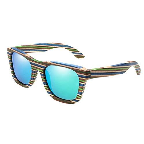 Gafas de sol de madera Retro Vintage Fashion Polarized Summer Glass para Hombres Mujeres - Verde