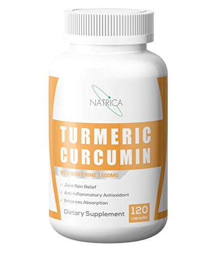 Natrica Turmeric Curcumin with Bioperine 1500mg 120 Capsules