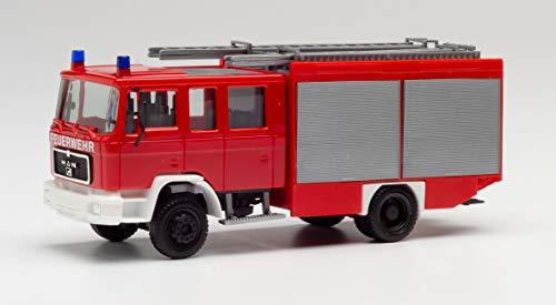 herpa 094092 M 90 LF 16 Löschfahrzeug Feuerwehr Fahrzeug in Miniatur zum Basteln, Sammeln und als Geschenk, Mehrfarbig