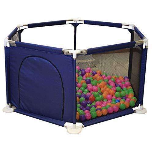 XBXD Centro de Actividades para Parque de Juegos de bebé, Gran Valla de Seguridad para niños pequeños y Familiares, Desmontable 59.06 x 26.77 Pulgadas, Tela, Azul, Size 0.00watts