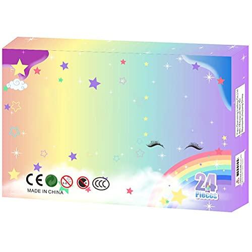 Paquete de juguetes de Navidad – Kit de barro DIY 24 números lodo descompresión juguete regalo de cumpleaños para niñas y niños