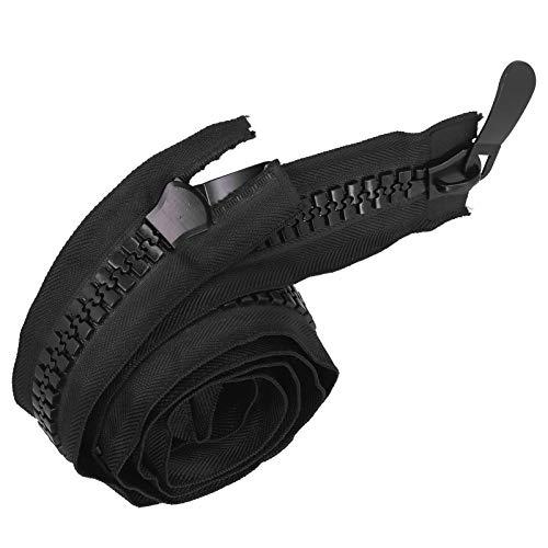 Große Plastikreißverschlüsse Schwarzes Klebeband mit doppeltem Reißverschluss Hochleistungsreißverschlüsse zum Nähen, Schlafsack, Boot, Leinwand, Bezug, Trampolin, Hundebett, Zelt(120cm)