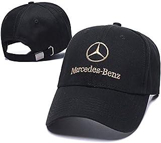 Funsport Baseball Cap Hat with Car Emblem Unisex Baseball Cap for Mercedes-Benz Accessories (Black hat-Gold Letter)