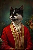 5Dダイヤモンドペインティングフルダイヤモンドダイヤモンドペインティング紳士猫モザイクダイヤモンド刺繍動物柄デコレーションリビングルームホームデコレーション40×50cm
