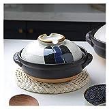 YANJ Cazuela de cerámica con Tapa, Olla de Barro, Olla de cerámica Japonesa Colorida, cazuela Resistente al Calor con Tapa, Olla de Barro Redonda pequeña, Olla de arroz para Fideos de s