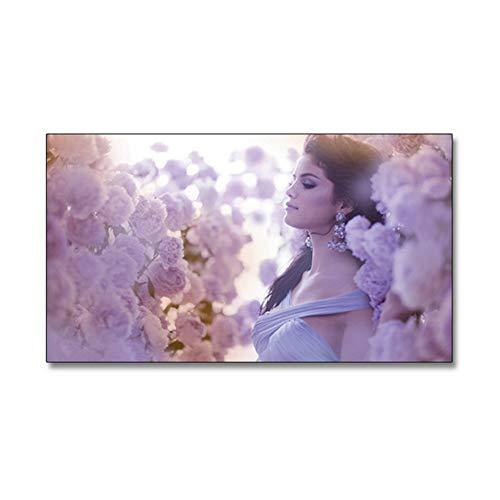 sjkkad Selena Gomez Poster HD Wallpaper Schönheit Sänger Drucke Schlafzimmer Wohnzimmer Leinwand Malerei Wandkunst Bilder Wohnkultur -50x75cm Kein Rahmen