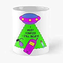 I Must Confess Still Believe Ufo Britney Spears Classic Mug - The Funny Coffee Mugs For Halloween, Holiday, Christmas Party Decoration 11 Ounce White Lilacoo.
