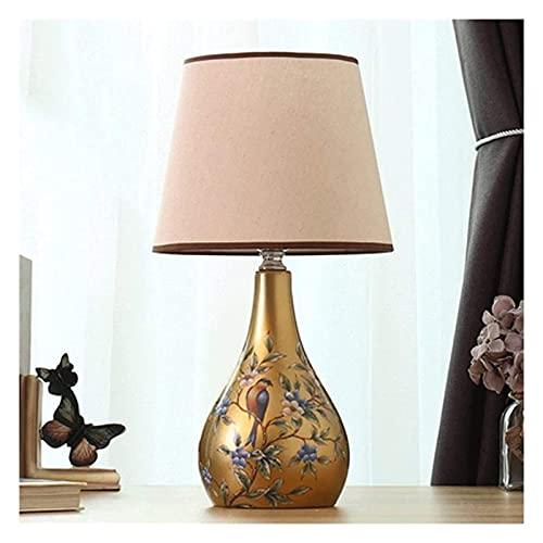 Lámpara de Mesa Lámpara de escritorio LED dormitorio Lámpara de mesa de mesa de noche Pantalla de tela, aplicable E27 Bulbo en espiral 110V ~ 240V para lámparas de mesa para niños 18 pulgadas de altur