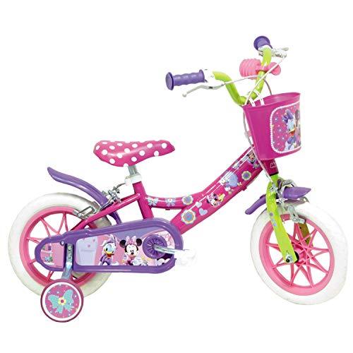 Mondo Toys - Bici Mod. MINNIE MOUSE per bambino / bambina - misura 10'' - rotelle e freno anteriore - colore rosa / bianco - 25127