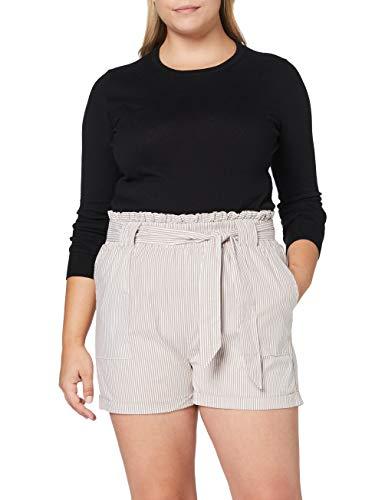 Only Onlsmilla Stripe Belt Dnm Shorts Noos Pantalones Cortos con Cinturón para Mujer