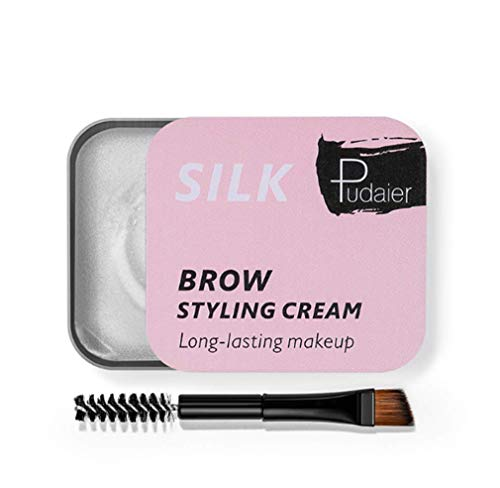 DREZEA. Eyebrow Soap Brows Styling Soap Long Lasting Waterproof Smudge Proof Eyebrow Styling Pomade for Natural Brows 3D Feather Brows Makeup Balm
