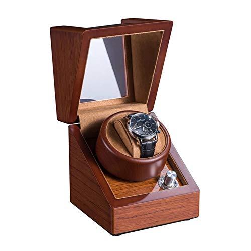 WZ Automatisch Einzel Uhrenbeweger Box Massivholz Matt Schale Weiches Uhrenkissen 5 Zahnrad Anpassung Leiser Motor Duale Stromversorgung