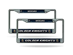 Rico Las Vegas Golden Knights NHL Chrome Metal (2) License Plate Frame Set from Rico