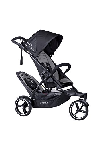 Find Discount phil&teds Dot Compact Inline City Stroller with Double Kit, Graphite – Compact Frame...
