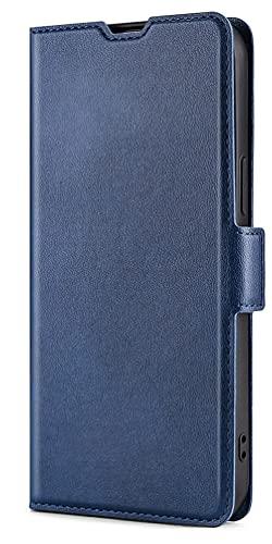 KEYYO Leder Folio Hülle für Google Pixel 6, Flip TPU + PU Lederhülle Brieftasche mit Kartensteckplätzen, Handyhülle Schutzhülle Hülle Cover mit Ständer Funktion - Blau