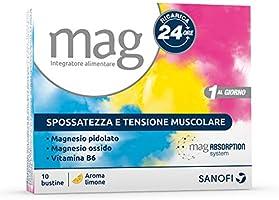 Mag Ricarica 24 Ore Integratore Alimentare Contro la Stanchezza a Base di Sali di Magnesio Pidolato e Magnesio Ossido,...