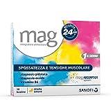 Mag Ricarica 24 Ore Integratore Alimentare Contro la Stanchezza a Base di Sali di Magnesio Pidolato e Magnesio Ossido, con Vitamina B6 - 10 Bustine