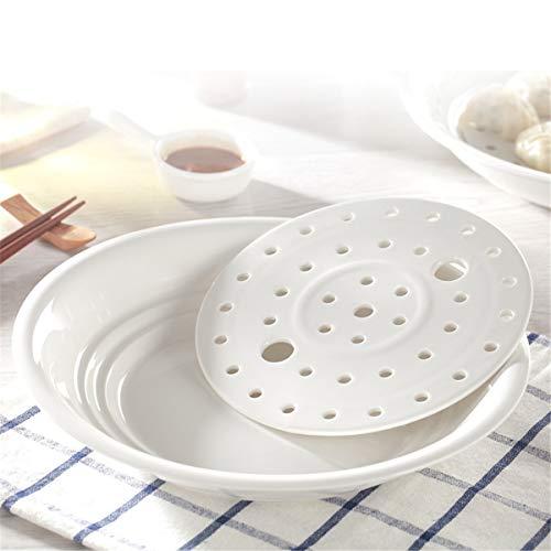 COJOY Ceramic Porcelain Colander Fruit Decor Strainer Bowl Plate