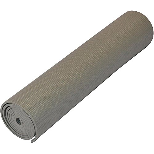Yoga Direct Deluxe Extra Thick Yoga Sticky Mat, Gray, 1/4-Inch