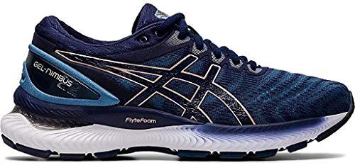 Zapatillas de correr Asics Gel-Nimbus 22 (D) para mujer, Azul (Aletas grises/Abrigo de marinero), 38.5 EU