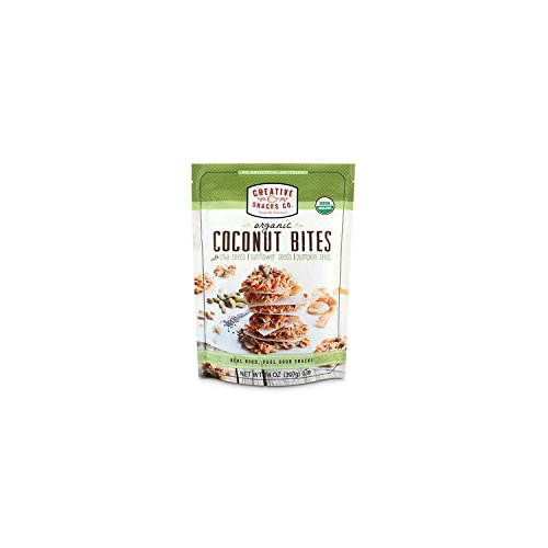 Creative Snacks Naturally Delicious Organic Coconut Bites with Chia, Sunflower and Pumpkin Seeds, 14 Ounce Resealable Bag