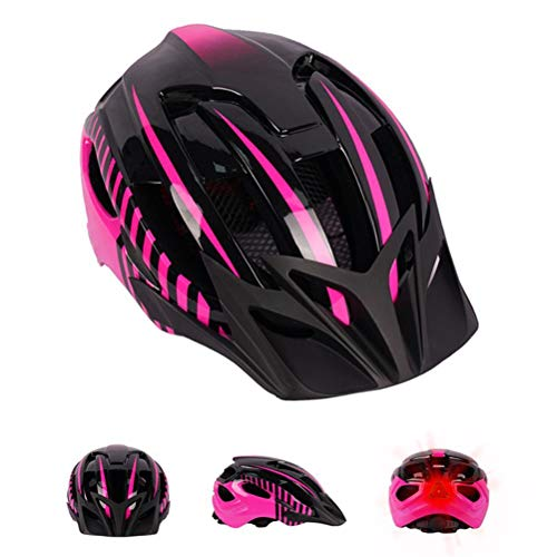 LED-Fahrradhelm, verstellbare Sportkopfbedeckung für Erwachsene Unisex Superleichter Fahrradhelm mit Sicherheitslicht und abnehmbarem Visier für Rennrad und Mountainbike