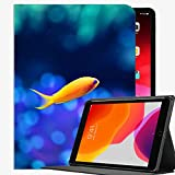 para la Cubierta de la Caja de iPad Pro 9.7, Fish Gold Natwing Case Slim Shell Cubierta de Concha para iPad Pro 9.7 A05