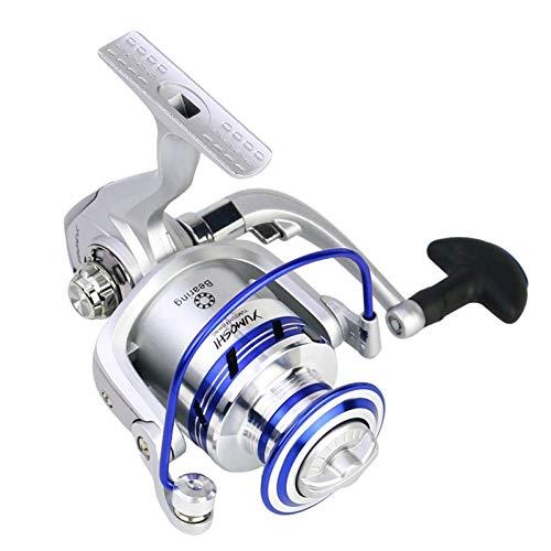 Agnes Bruce Reel de Pesca de Hilado 12+ 1BB 1000-7000 Series Metal Bobina Carrete de Pesca Profesional Lámina Izquierda/Derecha Pesca Ruedas de Carrete (Bearing Quantity : 12, Color : 7)