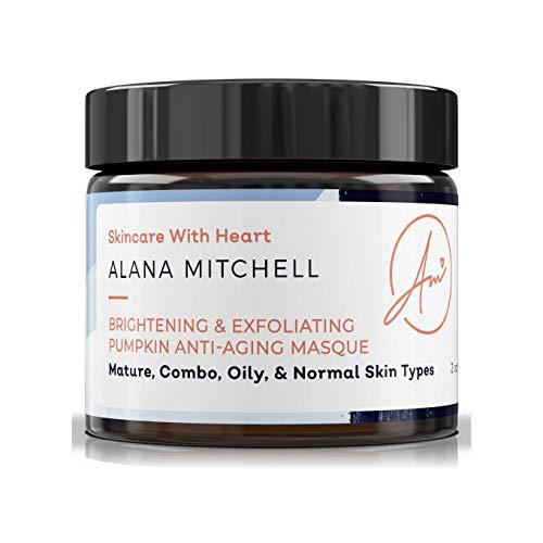 Alana Mitchell Mascarilla Iluminadora y Exfoliante calabaza Antienvejecimiento