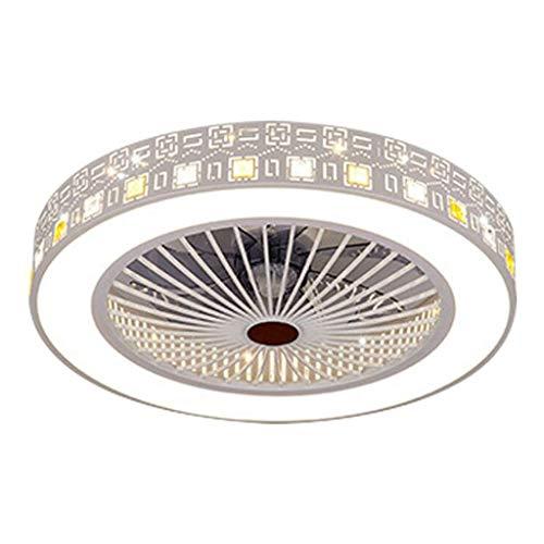 YAYA Plafondventilator met ledverlichting, traploze dimmen-afstandsbediening, plafondventilator, lamp met onzichtbare bladen, 55 cm, moderne eenvoudige decoratie voor thuis