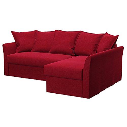 Soferia Fodera Extra Ikea HOLMSUND Divano Letto angolare, Tessuto Classic Red