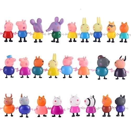 Lovely 25 PCS/Set Peppa Personaggi Giocattoli Giochi Pig Carini Decorazioni Torte e Dolci