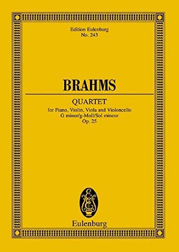 Klavierquartett g-Moll: op. 25. Klavierquartett. Studienpartitur. (Eulenburg Studienpartituren)
