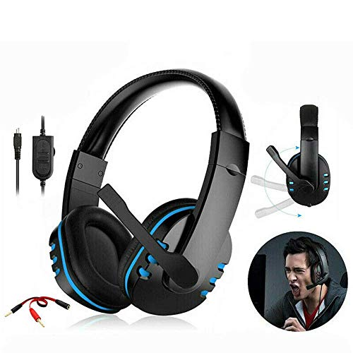 Fone de ouvido para jogos com microfone estéreo Gamer Bass Surround um PC