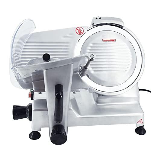 T-CAT Aufschnittmaschine Allesschneider Brotschneidemaschine Schrägschneider Edelstahl Gastro 0-15 mm Schnittdicke (250mm 240W)