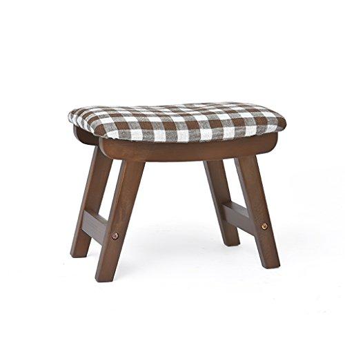 Tabouret lavable en bois de hêtre lavable à la maison de tabouret de chaussures adulte de tabouret 38.5 * 25.5 * 29cm (Color : Brown)