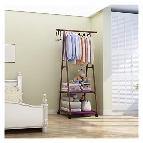 LICHUAN Perchero Rack de Capa multifunción extraíble para Dormitorio Ropa Colgante con Ruedas Piso de pie Triángulo Percha Fácil Montaje (Color : LYJ3 3)
