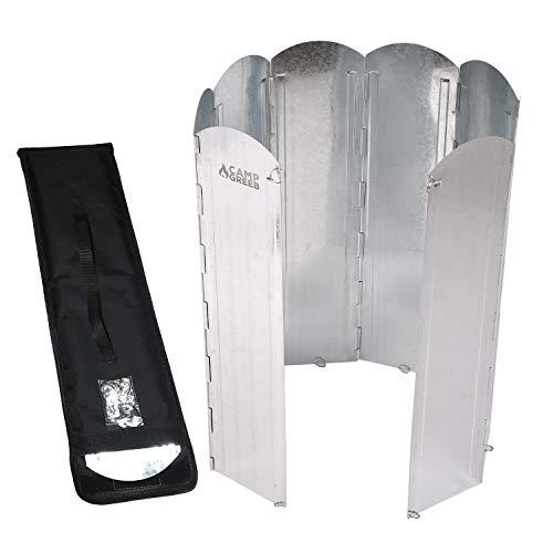 【キャンプグリーブ】大型反射板 大型風防板 8枚連結 長さ120cm 専用手さげつき収納ケース Oリング付属 固...