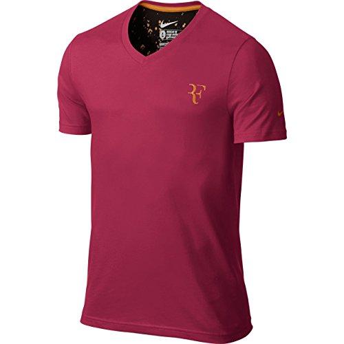 Nike Herren T-Shirt Roger Federer Organic Cotton Men, Rot, XXL
