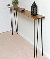 Homey Essense Ironwood Modern Console Table (Brown , 45X 9X 30 inches - LX W X H)