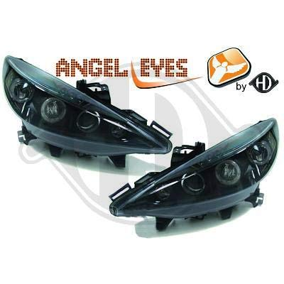4226380 Angel Eyes koplamp, zwart, voor 207-2006 tot 2012