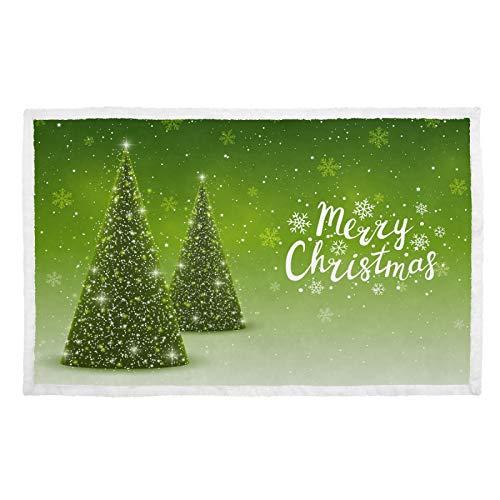UMIRIKO Manta para mascotas con diseño de árbol de Navidad, copo de nieve, suave, para perro, gato, cachorro, colchoneta para sofá cama, lavable 2020159