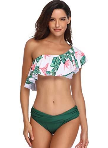 Happy Cherry - Bañador Madre e Hija Iguales de Verano Transpirable 2 Piezas Traje de Baño Familiar Elástica Bikini de Playa para Mujer Niñas